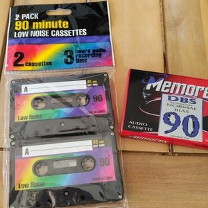 Memorex DB, low noise 90 min audio blank cassettes